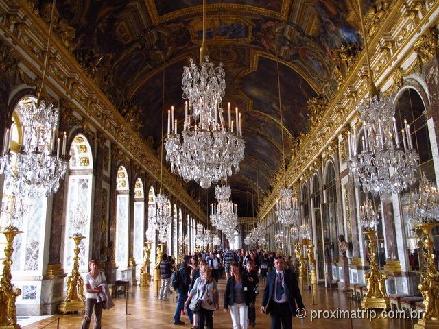 Galeria dos Espelhos - Palácio de Versalhes