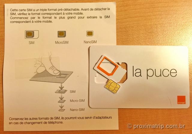O chip Holiday da Orange vem nos tamanhos NanoSIM e adaptadores para MicroSIM e SIM card padrão
