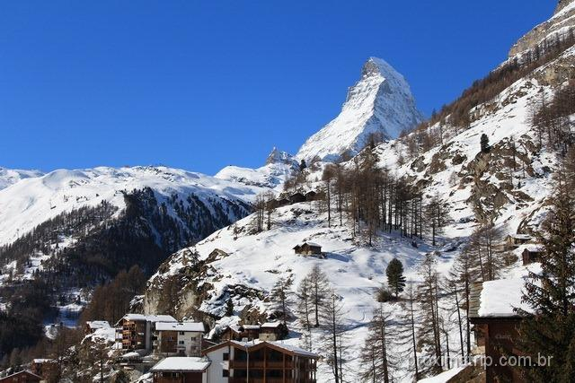 Zermatt e o Matterhorn ao fundo