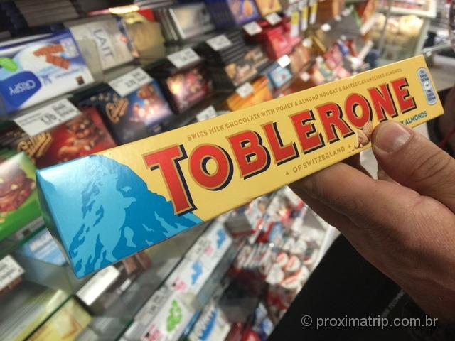 A montanha Matterhorn é o símbolo do chocolate Toblerone
