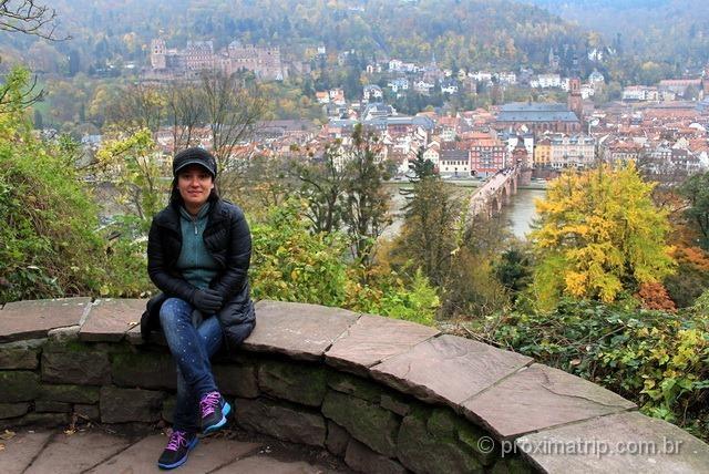 Linda vista de Heidelberg do philosophenweg