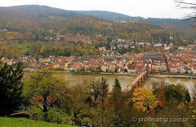 Heidelberg vista do philosophenweg]