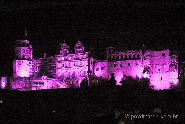 Castelo de Heidelberg a noite