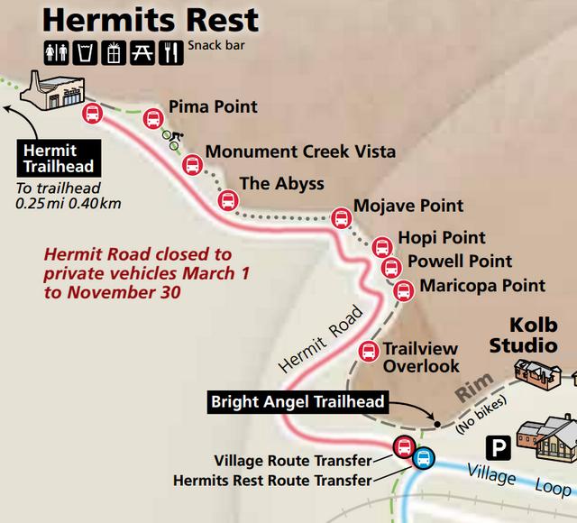 Onibus para Hermits Rest