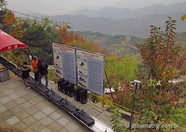 Grande Muralha da China em Mutianyu - tobogã