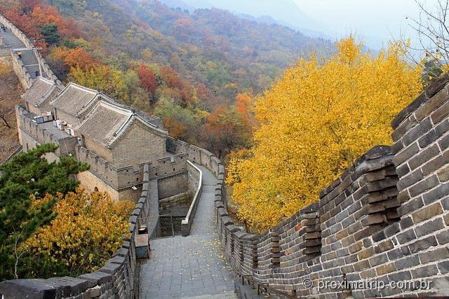 Grande Muralha da China em Mutianyu no outono