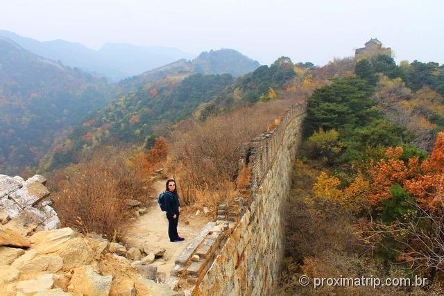 Grande Muralha da China em Mutianyu - ruinas