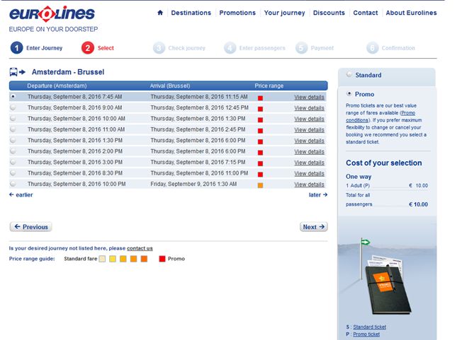 compra de ticket bus europa online eurolines