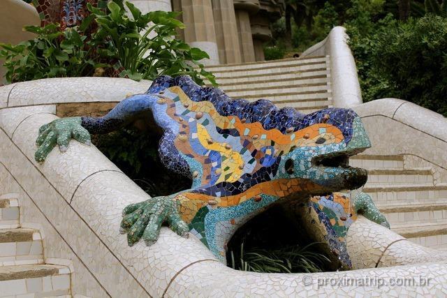 Famosa Salamandra no Parc Güell