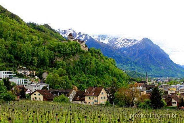Castelo de Vaduz em Liechtenstein