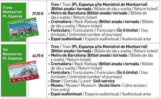 tipo-tickets-bilhetes-de-Barcelona-ate-Montserrat