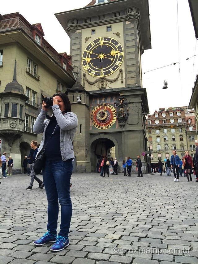 O relógio astronômico, uma das principais atrações turísticas de Berna