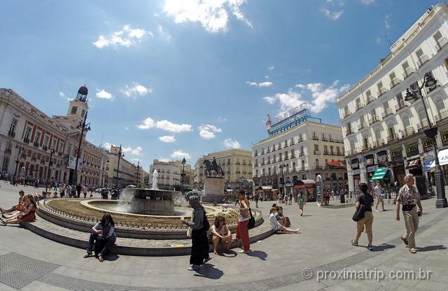 Puerta del Sol: marco zero em Madri