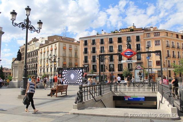 Estação de Metrô em Madri