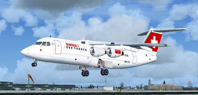 swiss AvroRJ100 simulator