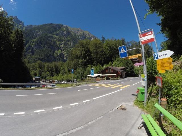 Ponto de ônibus do lago Blausee - como chegar