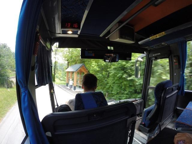 ônibus de Bled até o lago Bohinj