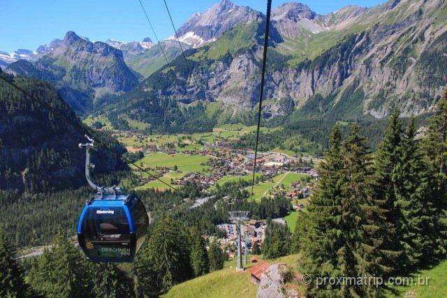 Kandersteg vista do teleférico que leva até o lago Oeschinen