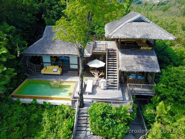 quarto de hotel de luxo na Tailândia