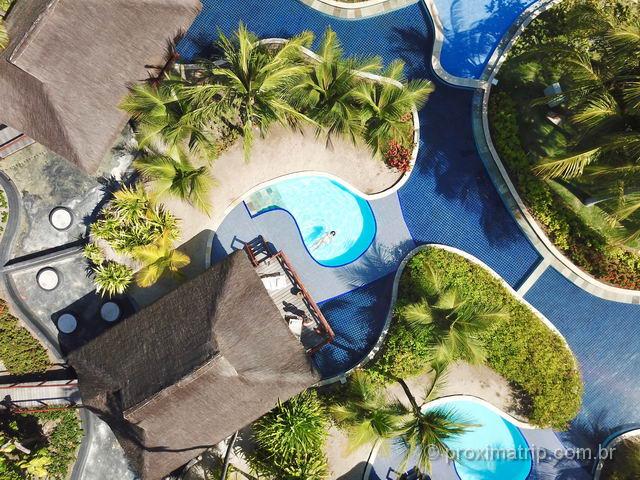 Bangalô super luxo piscina alto drone