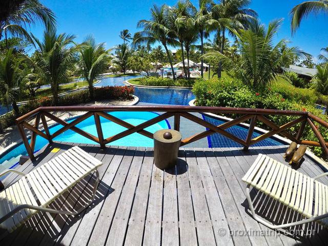 Varanda do Bangalô super luxo com piscina - Nannai Resort e Spa