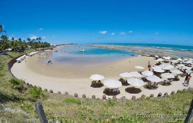 Linda praia frente hotel Nannai