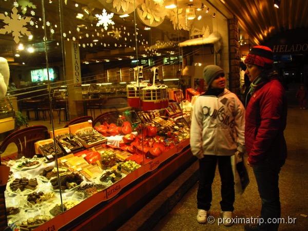 Loja de chocolate na rua Mitre