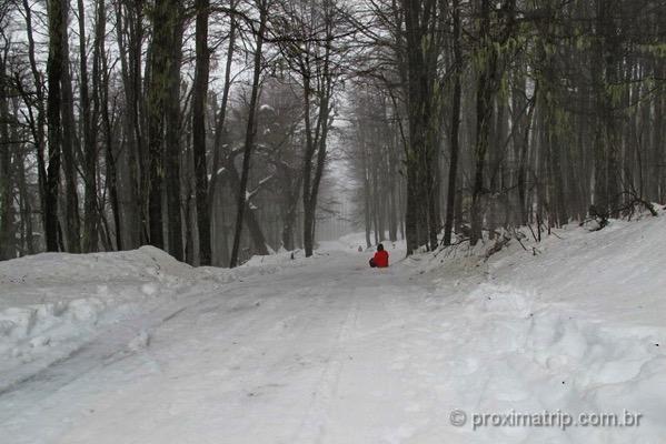 Esqui bunda no Piedras Blancas - em Bariloche