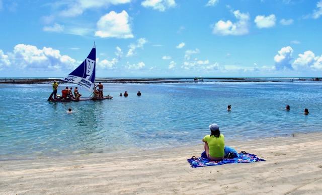 Praia piscininha, sem ondas, em Porto de Galinhas - Ipojuca - NE