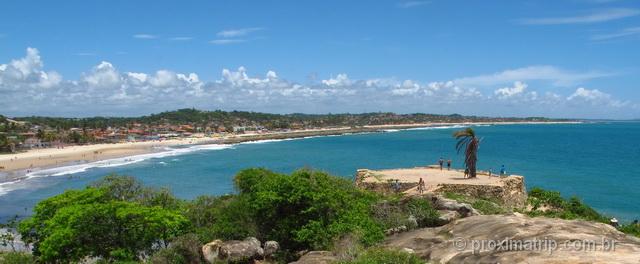 Praia de Gaibú vista a partir do Forte São Francisco Xavier - Pernambuco
