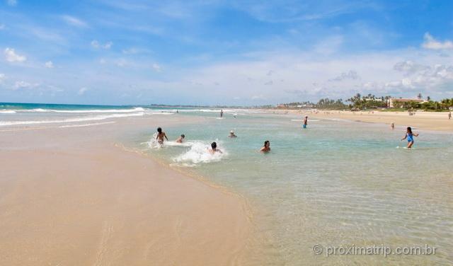 Bancos de areia formam fantásticas piscinas naturais na Praia do Cupê, em Porto de Galinhas