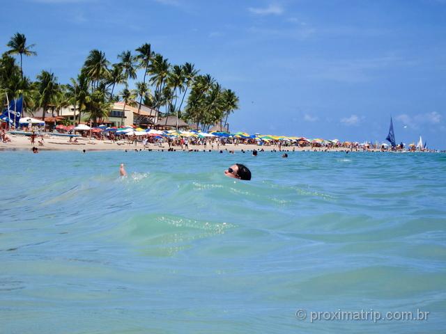 Maré alta na praia de Porto de Galinhas - Ipojuca - Pernambuco