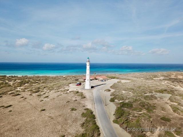 Farol Califórnia visto com drone Aruba