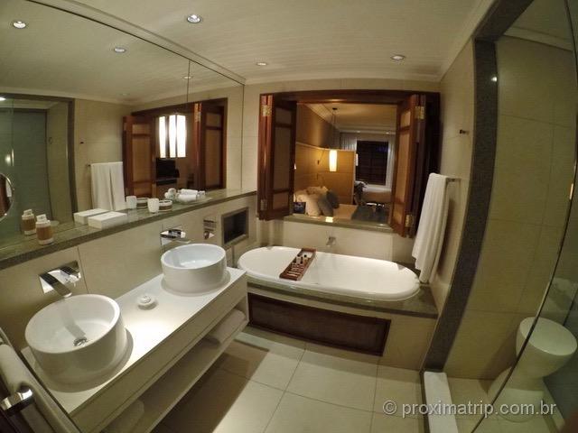 Banheiro dos quartos do Hotel/Resort Constance Belle Mare Plage - Ilhas Maurício