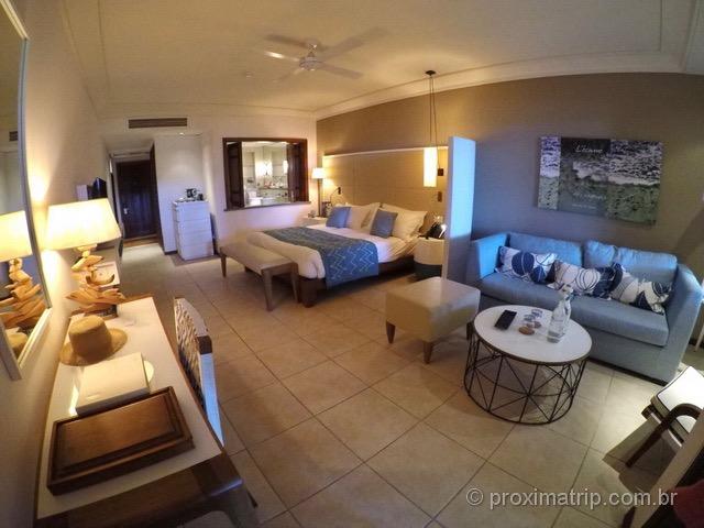 Interior dos quartos do Hotel/Resort Constance Belle Mare Plage - Ilhas Maurício
