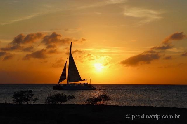 Lindo por do sol Aruba