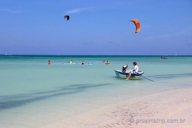 O que fazer em Aruba: esportes aquáticos