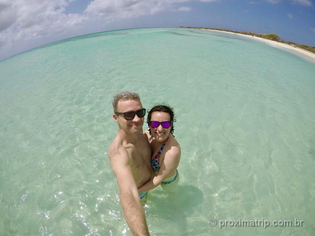 O que fazer em Aruba: mar piscininha em Arashi Beach