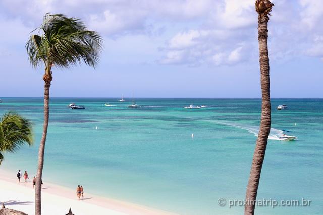 O que fazer em Aruba: praia de Palm Beach