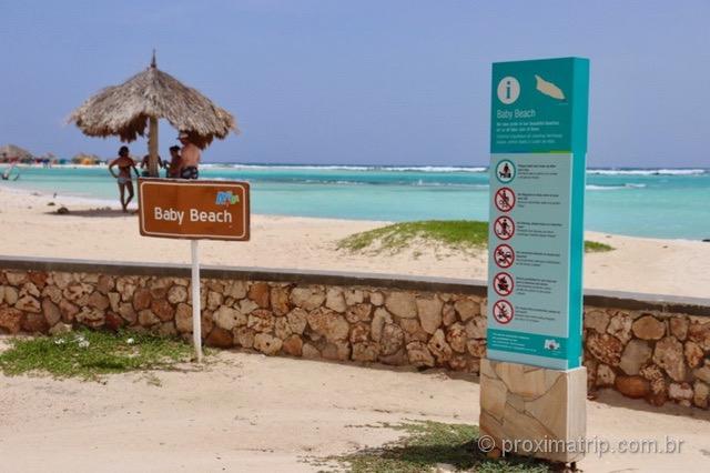 Praia Baby Beach em Aruba