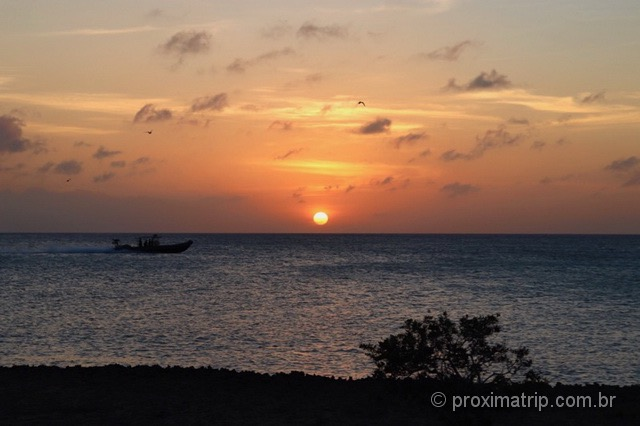 Por do sol em Eagle Beach - Aruba