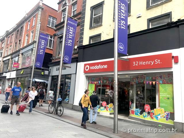 Loja da Vodafone em Dublin