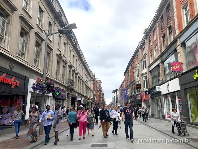 Onde comprar chip de celular em Dublin: rua Henry Street