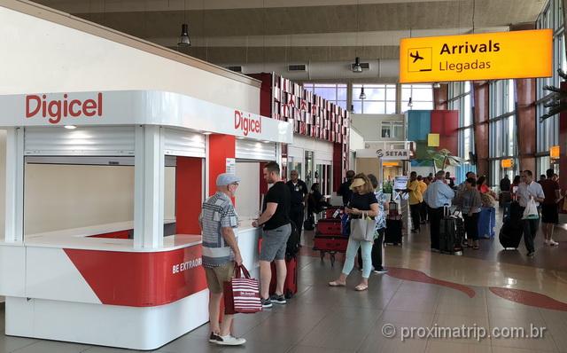 Onde comprar chip de celular em Aruba: Lojas Digicel e Setar no aeroporto