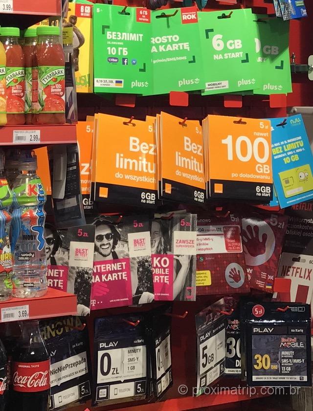 Onde comprar chip celular pré-pago na Polônia