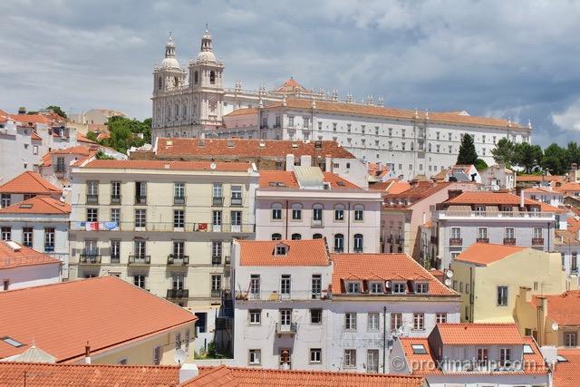 Vista a partir do Miradouro de Santa Luzia