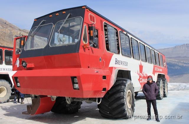 o que fazer em jasper: Passeio na Geleira Athabasca de Caminhão Ice Explorer