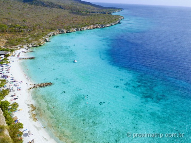 Praia de Porto Mari, em Curaçao