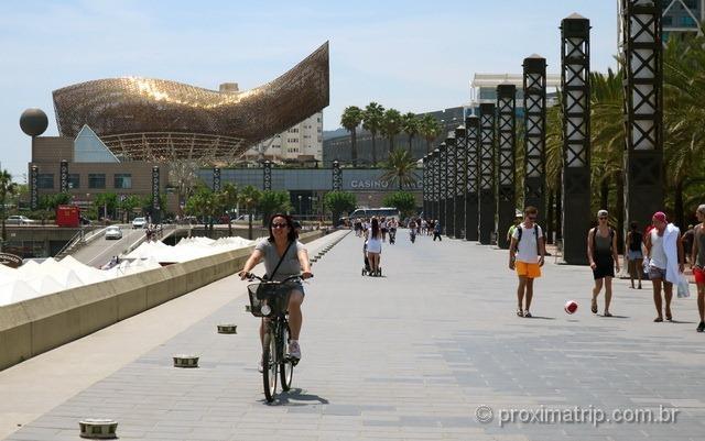 Passeio de Bike em Barcelona