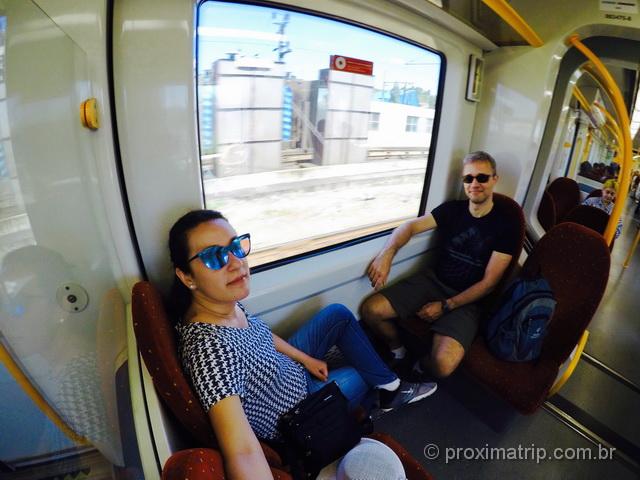 Trem de Porto até Braga por dentro